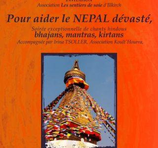 nepal evenement soutien - oeuvre caritatives Les Sentiers de Soie
