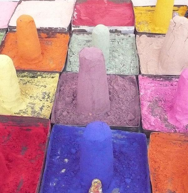 poudre coloree inde - Les Sentiers de Soie