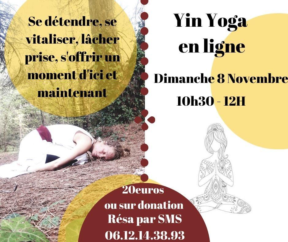 Yin Yoga par Zoom avec Géraldine